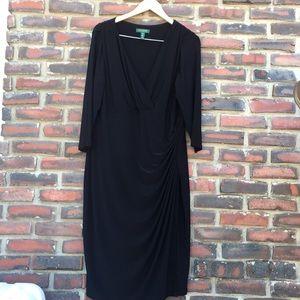 Ralph Lauren W 16 Black Dress